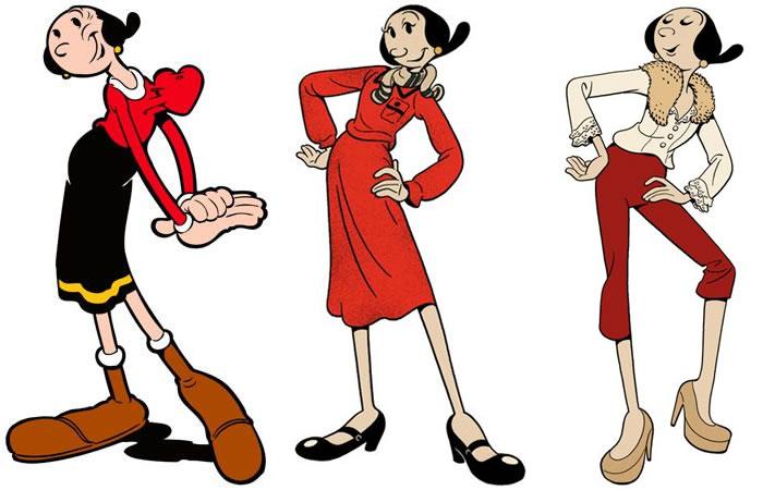 Olivia es la novia de Popeye
