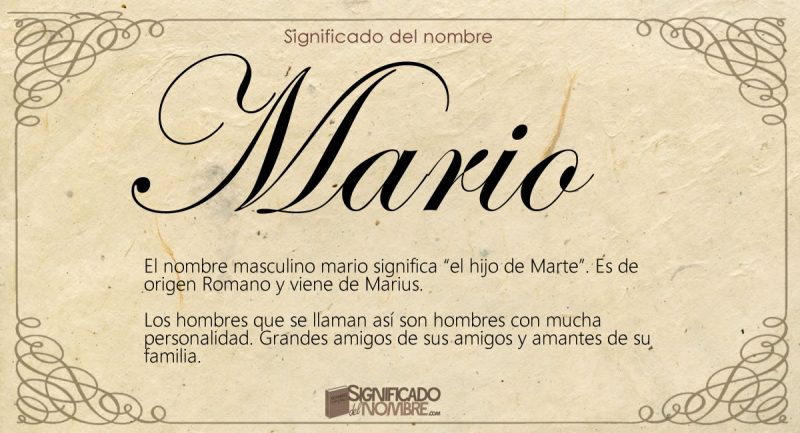 Significado del nombre Mario