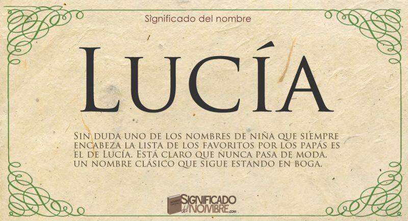 Significado de Lucía